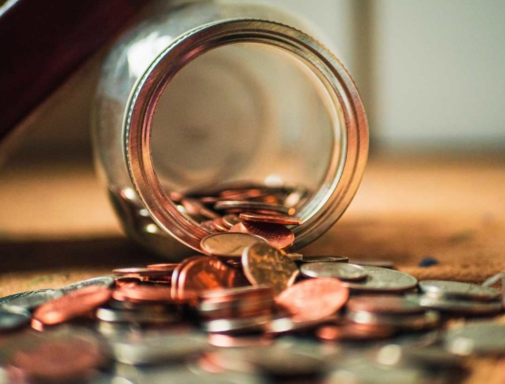 Bocale de pièces de monnaie